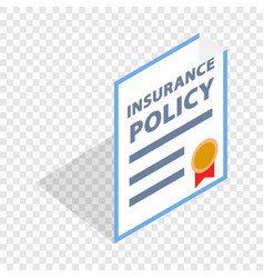 Insurance policy isometric icon vector