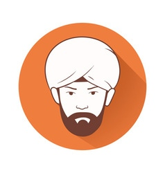 man s head with turban vector image