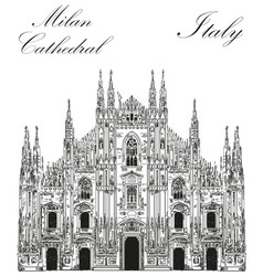 milan cathedral in italy vector image