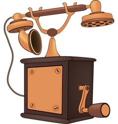 Old phone Cartoon vector image vector image