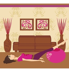 Pilates at home vector
