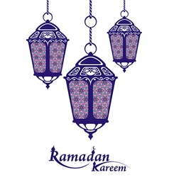 Ramadan background with ramadan kareem vector