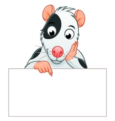 Rat pet banner vector