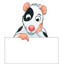 Rat pet banner vector