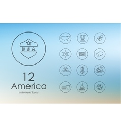 Set of united states icons vector