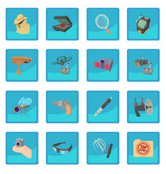 Spy and security icon blue app vector