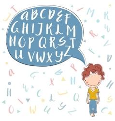 Unique alphabet vector image