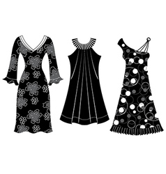 Woman Dress Silhouette vector image vector image