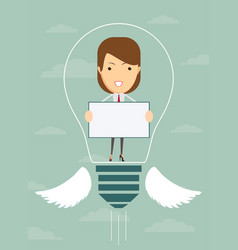 woman sharing her idea vector image