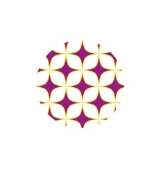 Purple stars sign pattern vector image