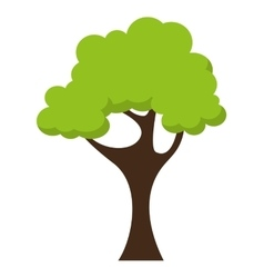 Tree landscape field isolated icon vector