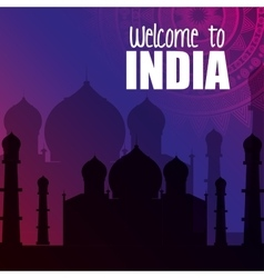 Monument india taj mahal design vector