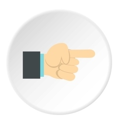 Gesture with index finger icon flat style vector