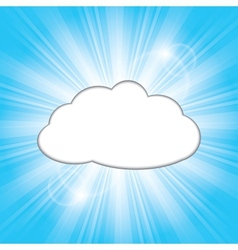 Sun behind the cloud vector