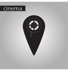 Black and white style icon pointer cinema vector