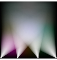 Colorful spotlights vector