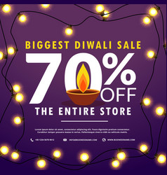 diwali festival sale discount and offers banner vector image