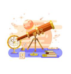 Astronomy design retro vector