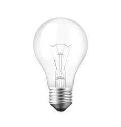 Isolated Realistic Light bulb vector image