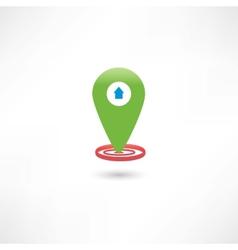 green gps mark with a car vector image
