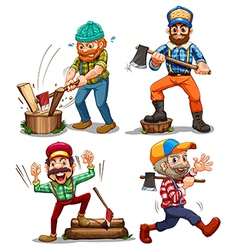 Hardworking woodmen vector image