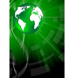 vector background with globe vector image