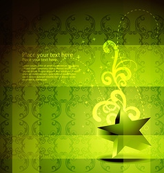 green star artwork vector image