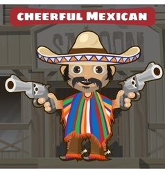 Fictional cartoon character - cheerful mexican vector