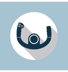 Aircraft control wheel icon vector