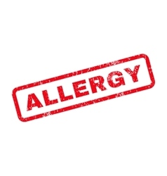 Allergy text rubber stamp vector