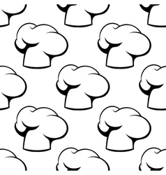 Chef toque outline seamless pattern vector image