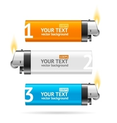 Color lighter menu infographic banner card vector
