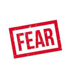 Fear rubber stamp vector