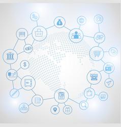 Fintech internet concept vector
