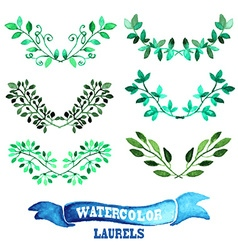 Floral laurels set vector