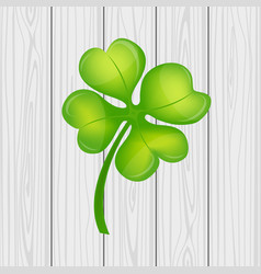 Four leaf clover on st patrick s day vector