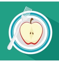 Fresh fruit menu healthy food vector