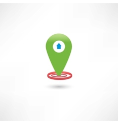 green gps mark with a car vector image