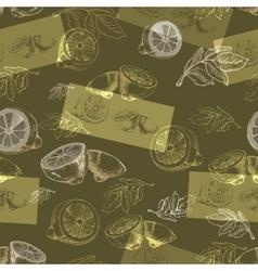 Hand drawn silhouette lemons vector image vector image