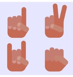 Hand signs vector image vector image
