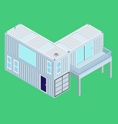 Isometric Container home vector image vector image