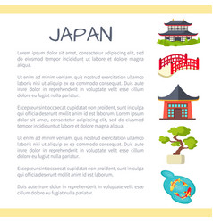 Japan touristic concept with sample text vector
