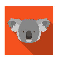 koala icon in flat style isolated on white vector image