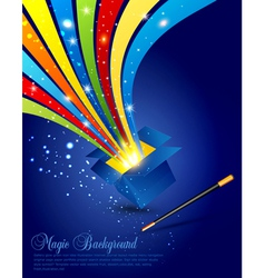 magic wand and box vector image vector image