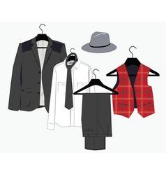 mens clothing vector image