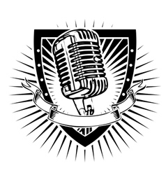 Microphone shield vector