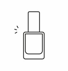 nail polish icon vector image vector image