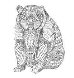 Patterned bear vector