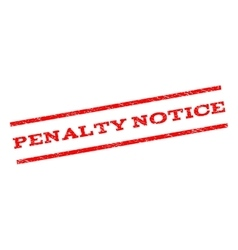Penalty notice watermark stamp vector