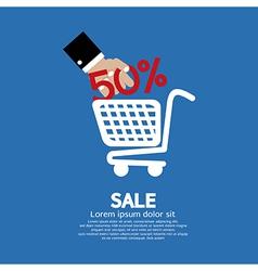 Sale 50 Concept vector image